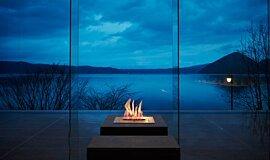 The Lake View Toya Nonokaze Resort Hospitality Fireplaces Ethanol Burner Idea
