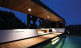 Portsea Private Pool Pavilion Residential Fireplaces Ethanol Burner Idea