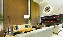 Lobby Indoor Fireplaces Fireplace Insert Idea
