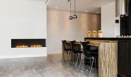 Kitchen Area Indoor Fireplaces Flex Sery Idea