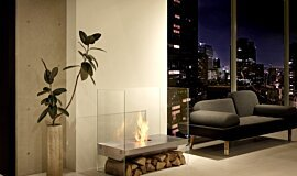 Private Residence See-Through Fireplaces Designer Fireplace Idea