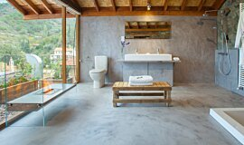 Lyhnos Hotel Cyprus See-Through Fireplaces Designer Fireplace Idea