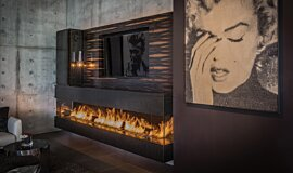 Hillside Residence Indoor Fireplaces Ethanol Burner Idea