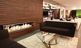 Private Residence See-Through Fireplaces Ethanol Burner Idea