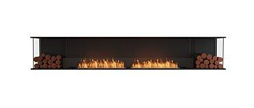 Flex 122BY.BX2 Bay Fireplace - Studio Image by EcoSmart Fire