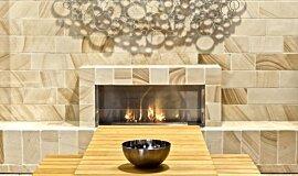 EcoOutdoor Linear Fires Fireplace Insert Idea