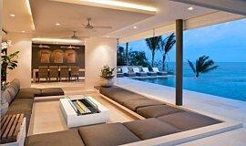 Inside Balcony Fluid Concrete Technology Fire Table Idea