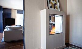 W Residence  Hospitality Fireplaces Fireplace Insert Idea