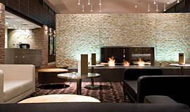Crowne Plaza Hotel Linear Fires Fireplace Insert Idea