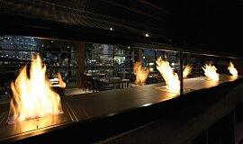 Hurricane's Grill & Bar Hospitality Fireplaces Ethanol Burner Idea