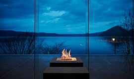 The Lake View Toya Nonokaze Resort Outdoor Fireplaces Ethanol Burner Idea