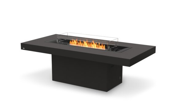 Gin 90 (Dining) Fire Table - Ethanol - Black / Graphite / Optional Fire Screen by EcoSmart Fire