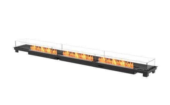 Linear 130 Fire Pit Kit - Ethanol - Black / Black by EcoSmart Fire