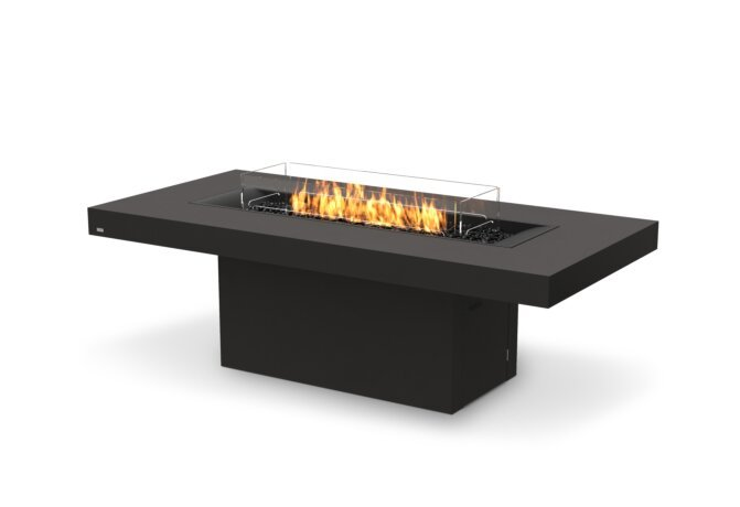Gin 90 (Dining) Fire Table - Gas LP/NG / Graphite by EcoSmart Fire