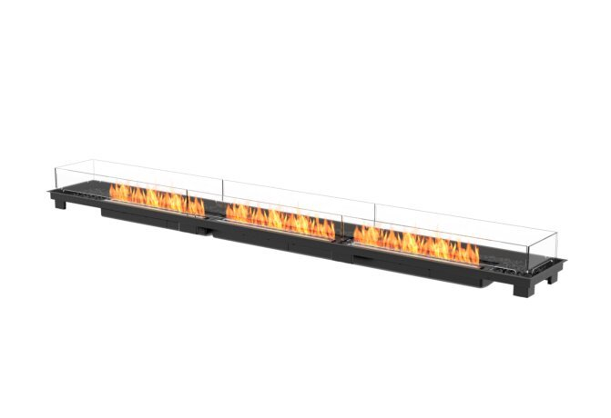 Linear 130 Fire Pit Kit - Ethanol - Black / Black by EcoSmart Fire